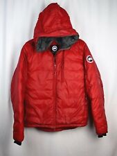 Canada Goose Lodge Hoodie Slim Fit Packable Down Fill Jacket Men's M Red--FLAWS
