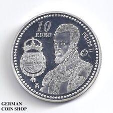 Spanien 10 Euro 2009 - King Felipe II. Silber PP - Spain silver