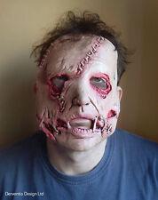 Uomo spaventosa Zombie FACCIA taglio Graffettata LUSSO LATEX HORROR HALLOWEEN