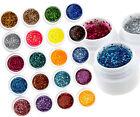 12 PCS Glitter Mix Color UV Builder Gel Acrylic Set for Nail Art Tips Salon Tool
