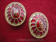 """Boucles d'oreille """"Bouclier Ecu Antique"""" N° 2 - Bijoux Vintage Butler & Wilson"""