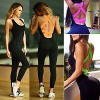 Women Sport Gym Yoga Running Fitness Jumpsuit Bodysuit Pant Leggings Athletic