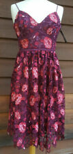 Forever New Claire Floral Lace Dress Sz 6 Red Pink RRP$189.99 BNWT Summer/Spring