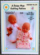 DOLLS KNITTING PATTERN  for BABY BORN or 16/17ins doll No 215 - By Daisy-May