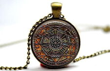 Seal of the Seven Archangels - Bronze Tone Photo Glass Dome Necklace Pendant