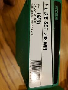 RCBS 308 Dies #15501 Full Length Sizing 2 Die Set New .308 Winchester