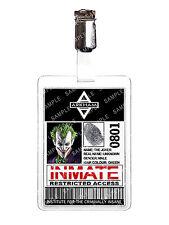 BATMAN Arkham UNIVERSE IL JOKER ID Distintivo Detenuto Costume Cosplay Comic Con