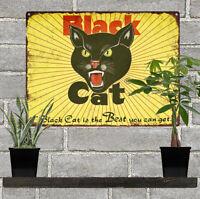 "Black Cat Fireworks Best you can get Man Cave Garage Home Decor 9x12"" 60596"