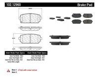 Disc Brake Pad Set-ThermoQuiet Disc Brake Pad Rear Wagner fits 14-19 Fiat 500L