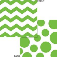 Chevron Polka Dots Fresh Lime Modern Party Supplies Paper Beverage Napkins