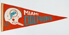 Vintage 1967 NFL Football  Miami Dolphins Full Size Wall Pennant Flag 30 inches