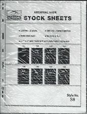 Vision Stock Sheets S8 Two-Sided Eight Horizontal Pockets Black Pkg. 5