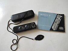 "RARE Minox B black paint spy subminiature camera with chain & case NICE ""LQQK"""