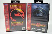 Sega Genesis Lot Of 2 Mortal Kombat and Mortal Kombat 2 MA-17