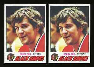 Lot of 2: 1977-78 Topps BOBBY ORR Cards #251 ~ NM-MT+ ~ BEAUTY ~ HOF Black Hawks