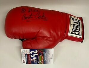 Curtis Cokes WWC Champ Signed Autograph Auto Everlast Boxing Glove JSA d. 2020