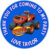 BLAZE AND THE MONSTER MACHINES  PERSONALISED GLOSS PARTY BAG SWEET CONE STICKERS
