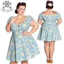 Hell Bunny Sunshine Rockabilly Pinup Swing Retro Vintage Day Mini Dress XL-4XL
