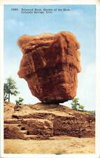 Colo. Colorado Springs, Balanced Rock, garden of the Gods