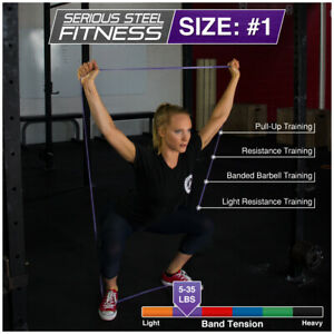 """Serious Steel Fitness 41"""" Pull Up Assist Band   Heavy Duty Resistance Loop Bands"""