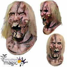 Official Walking Dead Deer Walker Zombie Latex Scary Horror Film Halloween Mask