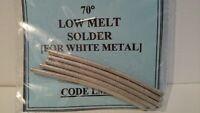 Low Melt 70 Deg. Solder for White Metal - 25gms Pack UK Seller UK Stock