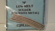 Very Low Melt 70 Deg. Solder for White Metal - 25g Pack UK Seller UK Stock