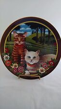 Uncle Tad's Cats Plate Peaches and Cream Anna Perenna Thaddeus Krumeich