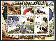 Angola, 2000 Cinderella issue. Birds sheet of 9.