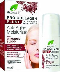 Dr. Organic Collagen + Hyaluronic Acid Anti-Aging Moisturiser + Dragons Blood
