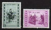 A7629) BELGIUM 1957 Scott#507/08 MNH** King Leopold I  - 2v