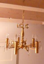 Kronleuchter Deckenlampe 5 flammig Messing Kritallglas Lüster