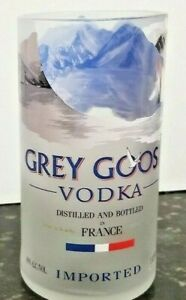 1 Grey Goose Vodka 1L Bottle Hand-cut for a Glass, Vase or Bar Accessory