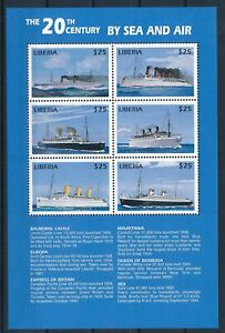 [G26110] Liberia 1999 boats good sheet very fine MNH