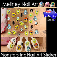 Monsters inc Nail Art Stickers character decoration Craft Supplies Disney