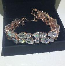 "18Ct Pear Diamond Tennis Bracelet 6.5"" 14K Rose Gold Finish All Size Available"