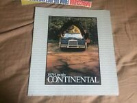 1979 Lincoln Continental Color Catalog Brochure Prospekt