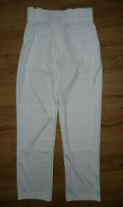 Rawlings Baseball Pants White Semi-Relaxed Fit Youth Boys Size Medium M New