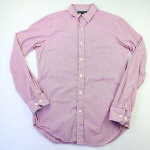Banana Republic Men's Size S Red Pinstripe Long Sleeve Button Up Shirt