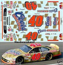 "NASCAR DECAL #40 ""ORIGINAL"" COORS GOLD 2002 DODGE R/T STERLING MARLIN WETWORKS"