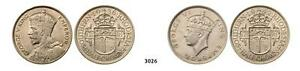 PegasusAuctions_com: 3026. Southern Rhodesia, Halfrown 1936/1942, Silver Lot