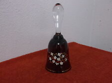 "VINTAGE RUBY RED CRYSTAL GLASS 7.0"" TALL BELL"