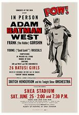 Adam West as Batman at Concert Event at Shea Stadium Concert Poster 1966