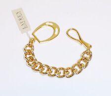 NEW RALPH LAUREN GOLD TONE LARGE CHAIN LINK BRACELET LB3310-50
