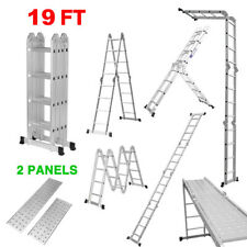 Foldable Ladder 5.77m Multi-Purpose Extendable Aluminum Step Ladders 150KG EN131