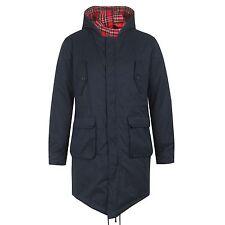 Merc Tobias Parka cola de pez chaqueta hombre azul marino modelo retro abrigo S