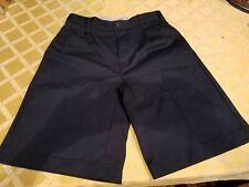 Lands End Teen Boys Dressy Shorts Sz16S 16 Slim Uniform? Navy Never Worn PolyCot