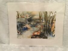 "Susan E. Pollins ""Layered Depths"" Watercolor Giclee Fine Art Inkjet Print 14x11"