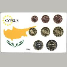 CYPRUS 2016 COMPLETE EURO COINS SET UNC IN NICE PACKING