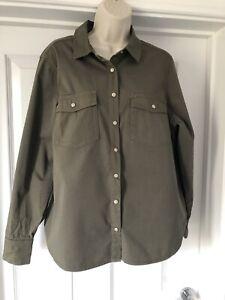 BNWT M&S Per Una Khaki Shacket Shirt 100% Cotton Army Cargo  Oversized 10